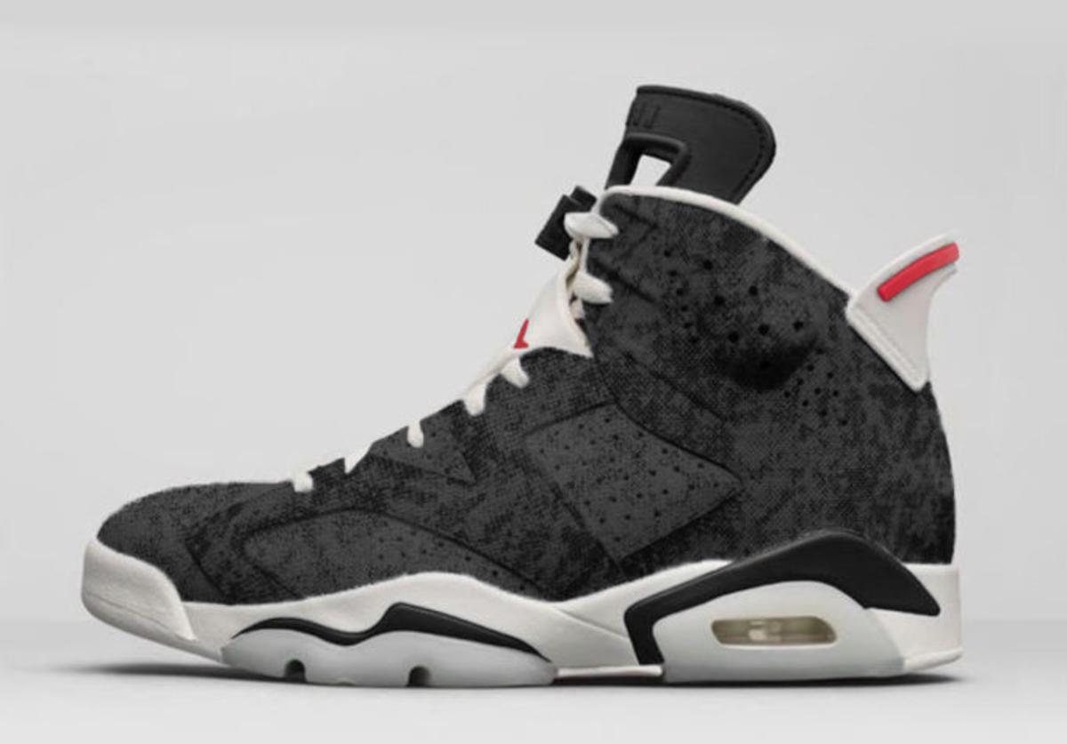 Air Jordan 6 Black Washed Denim