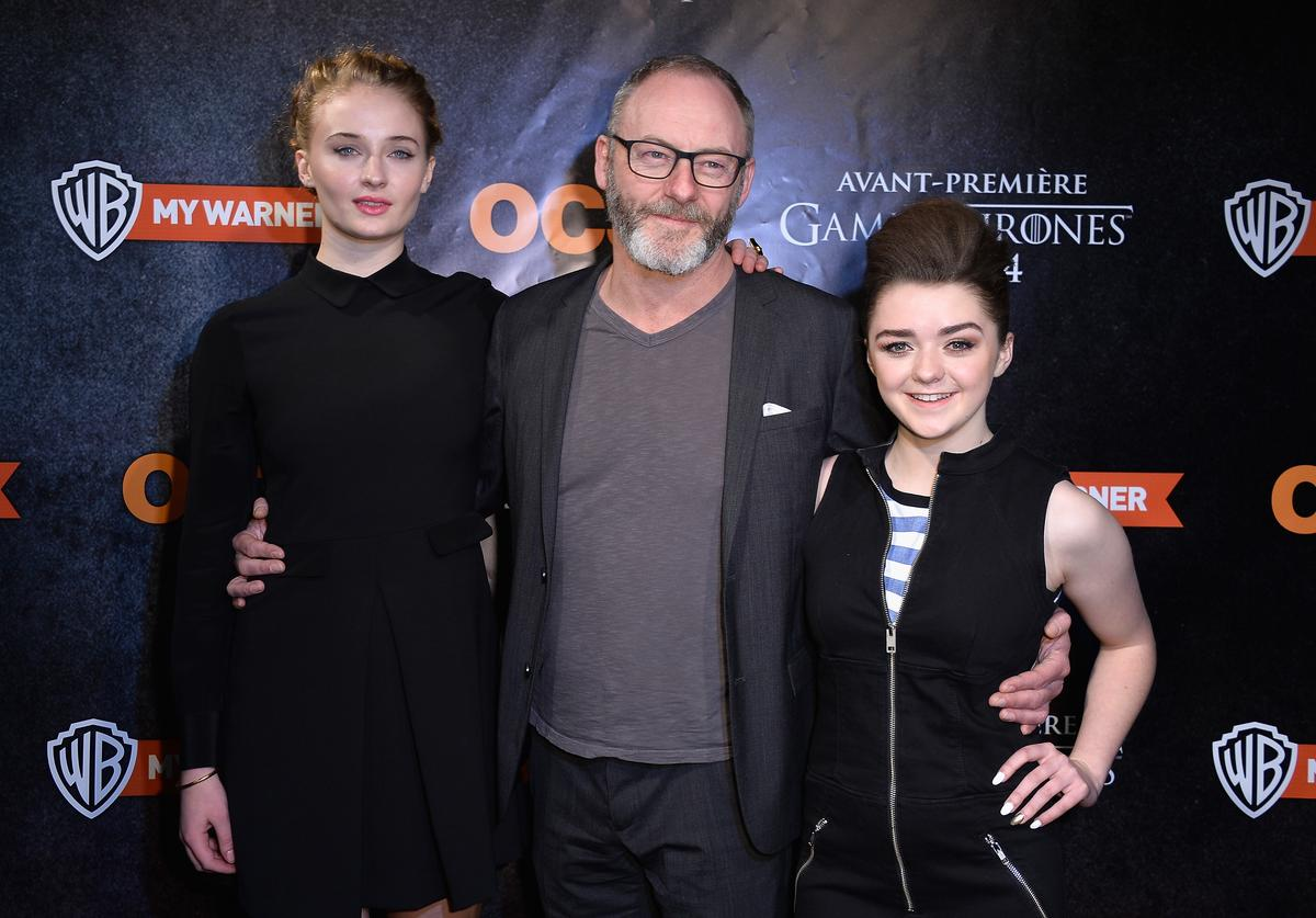 Sophie Turner, Liam Cunningham, Maisie Williams