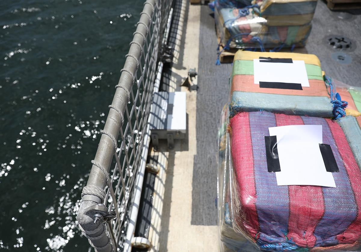 drugs seized from ocean