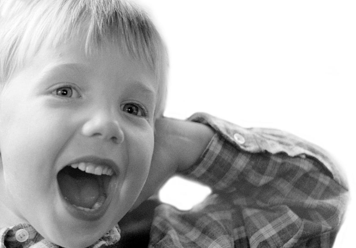 Ecstatic young child