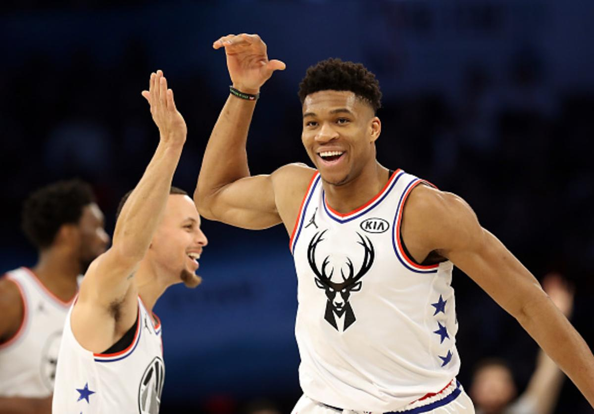 Giannis, Warriors Steph Curry