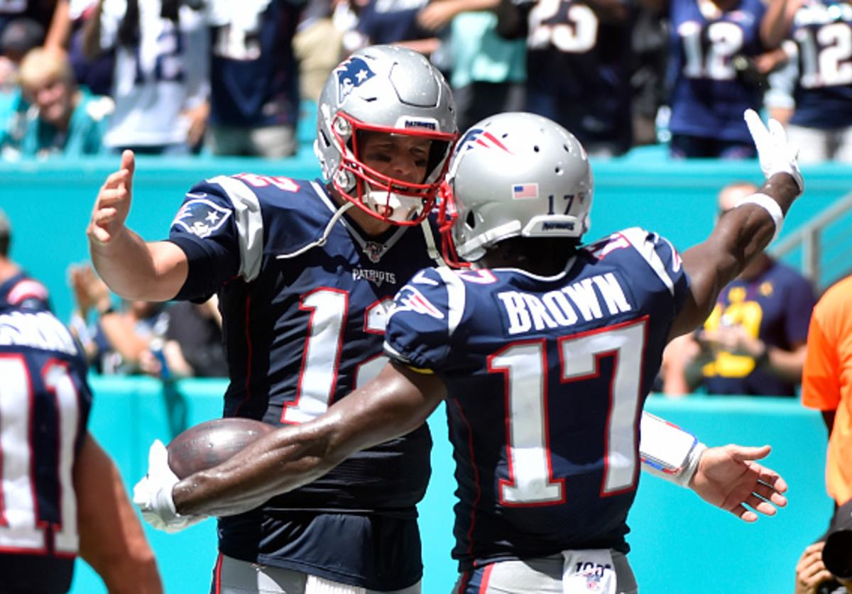 Antonio Brown Tom Brady