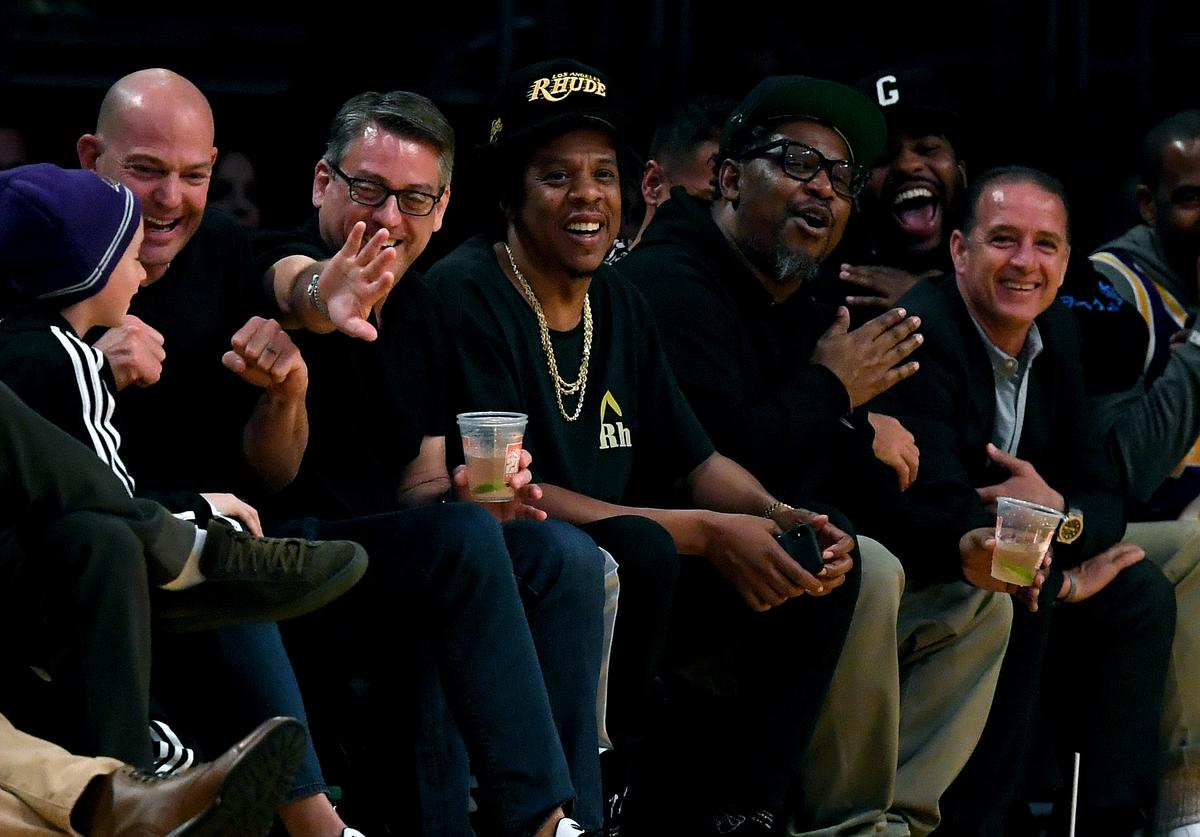 Jay Z courtside Lakers