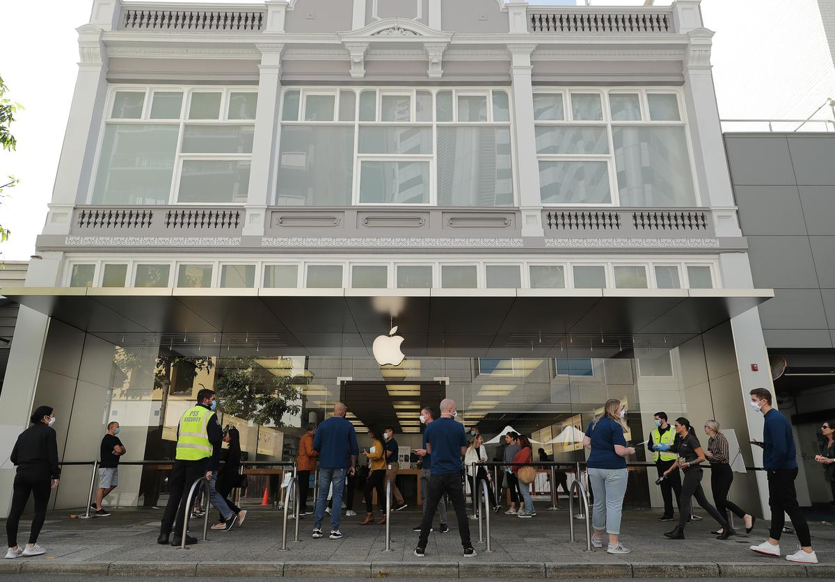 Apple store re-opening
