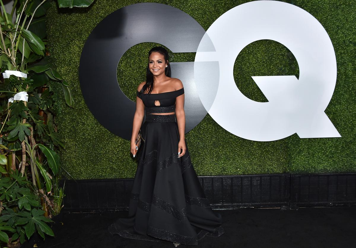 christina milian at a gq event