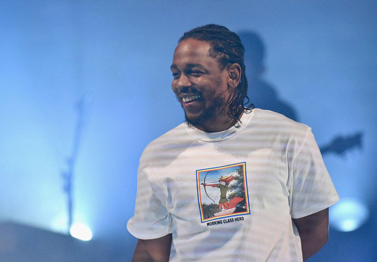 Kendrick Lamar performs onstage during American Express Music Presents: Kendrick Lamar Live at Music Hall of Williamsburg on December 16, 2016 Brooklyn, New York.