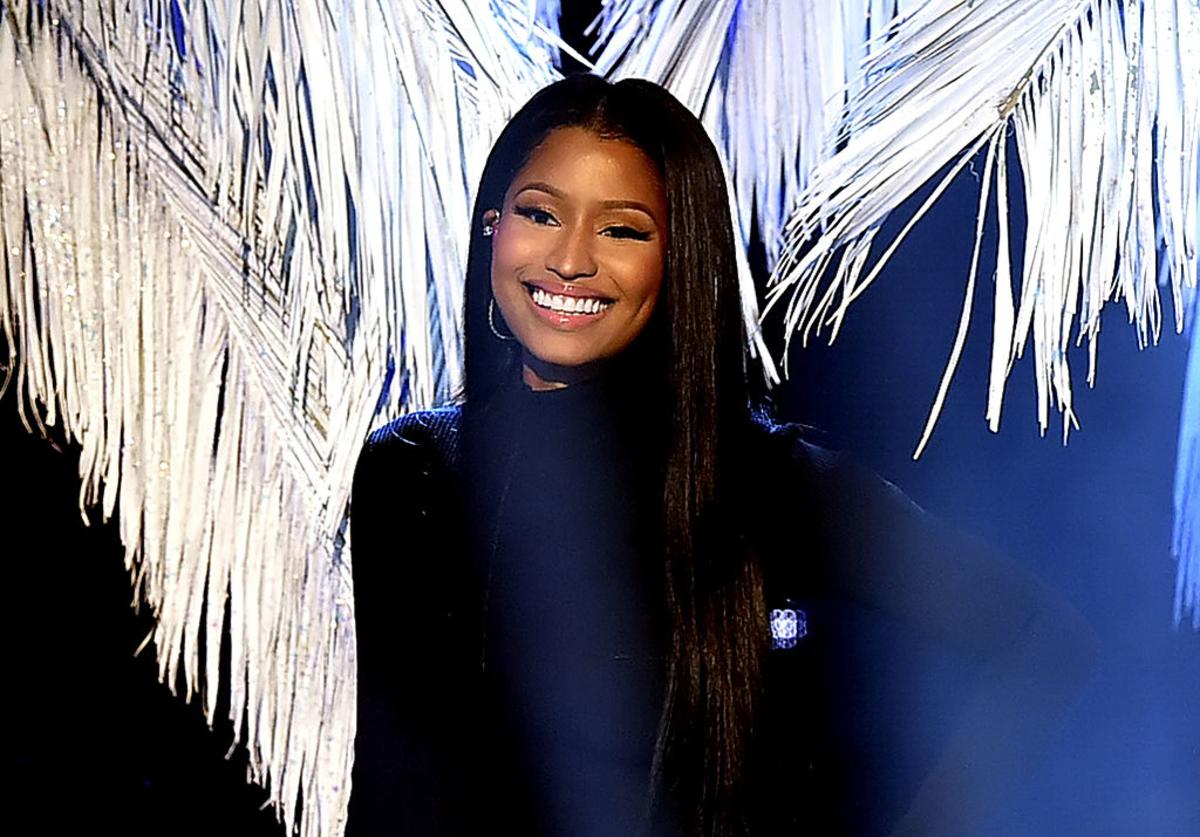 Nicki Minaj onstage during the 2016 American Music Awards at Microsoft Theater on November 20, 2016 in Los Angeles, California.