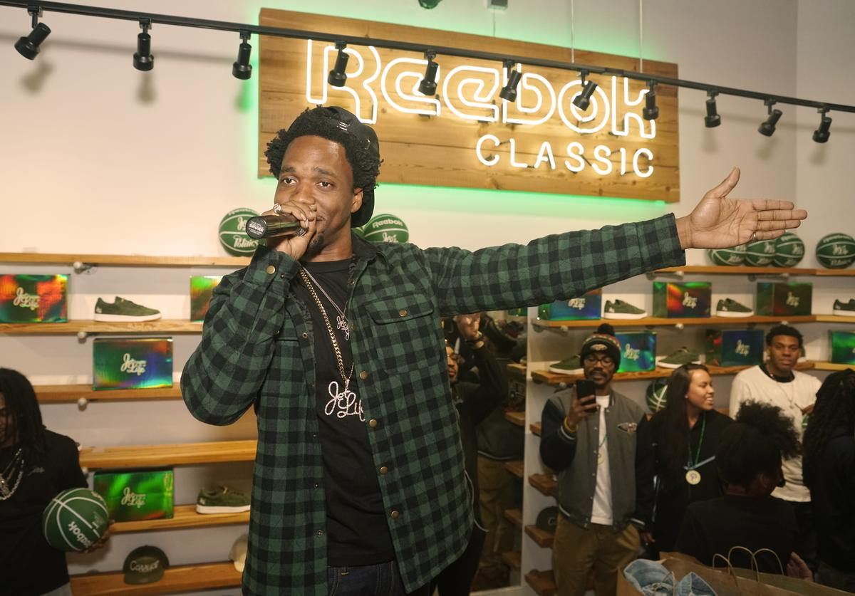 Currensy at Reebok Classic event
