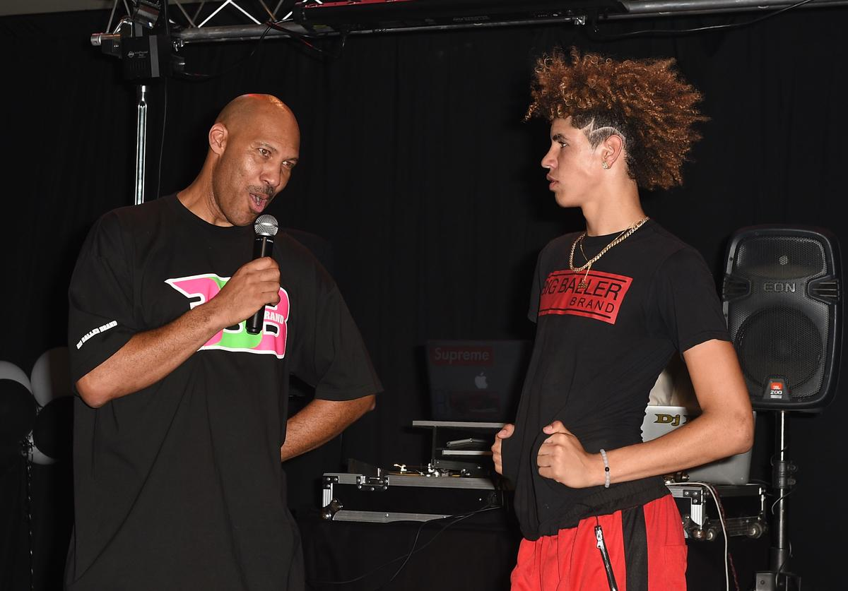 Lavar Ball & Lamelo Ball at Lamelo's 16th bday party