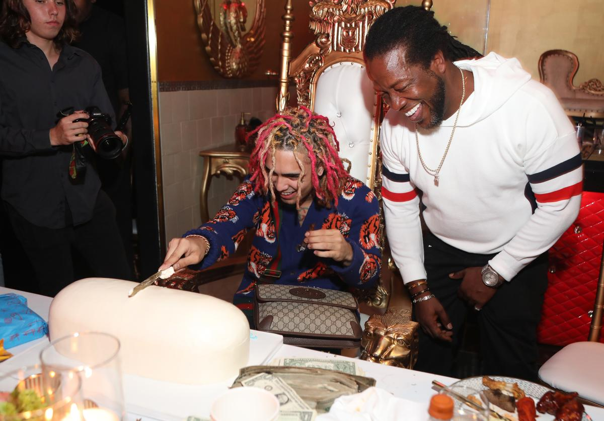 Lil Pump celebrates his 17th Birthday with friends at Ace Of Diamonds on August 17, 2017 in West Hollywood, California