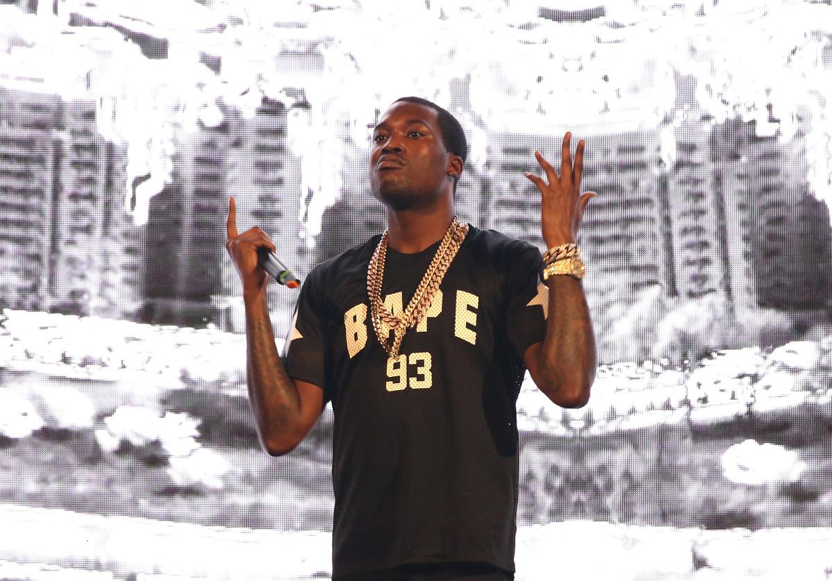 Meek Mill performs on stage at Barclays Center of Brooklyn on July 26, 2015 in New York City
