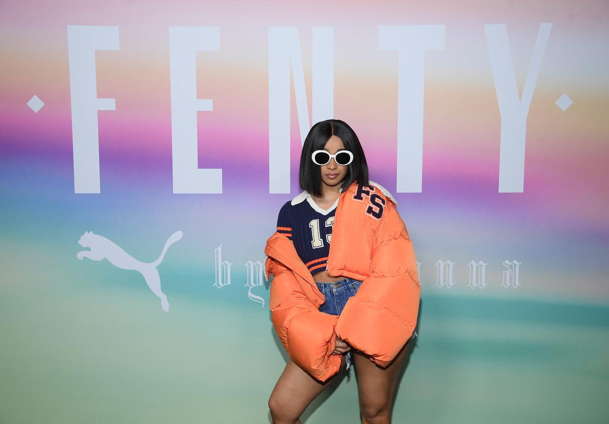 Rapper Cardi B attends the FENTY PUMA by Rihanna Spring/Summer 2018 Collection at Park Avenue Armory on September 10, 2017 in New York City