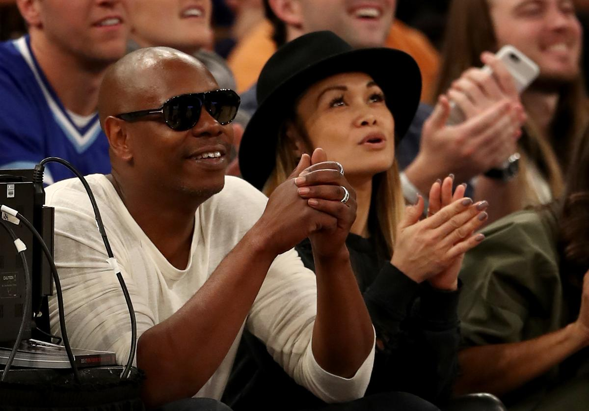Dave Chappelle attends the game between the New York Knicks and the Golden State Warriors at Madison Square Garden on March 5, 2017 in New York City