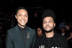 """The Weeknd Shares Photo With His """"Real Life Twin"""" Trevor Noah"""