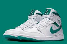 "Air Jordan 1 Mid ""Mystic Green"" Coming Soon: Official Images"