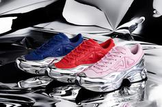 Adidas x Raf Simons RS Ozweego Chrome Pack Releasing This Month