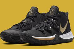 """Nike Kyrie 5 """"Black & Gold"""" Inspired By 2016 NBA Finals: Official Photos"""