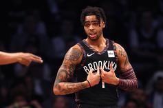 D'Angelo Russell Lifts Spanish Soccer Star To Help Him Dunk: Watch