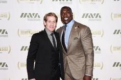 """Shannon Sharpe Hilariously Annoys Skip Bayless With """"GOAT James:"""" Watch"""