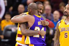 LeBron James & Kobe Bryant Share Tender Moment Courtside: Watch