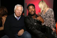 Meek Mill Links With Lil Baby, Robert Kraft & More At The Sixers Game