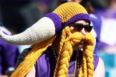 Vikings Fan Destroyed By Panthers Supporters At Bank Of America Stadium