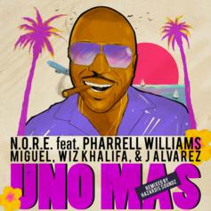 "Wiz Khalifa, Miguel & J Alvarez Join N.O.R.E. On Pharrell Assisted ""Uno Más"""