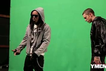 """Eminem Feat. Lil Wayne """"On The Set of """"No Love"""" Video Shoot"""" Video"""