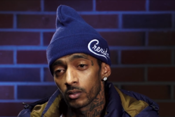 "Nipsey Hussle Creates Custom ""Crenshaw"" Uniforms For Fatburger"