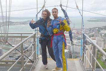 Tyga Bungee Jumps Off Auckland Sky Tower