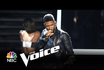 """Usher Performs """"Good Kisser"""" On """"The Voice"""""""
