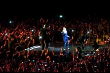 Beyonce Gets Pulled Off Stage By Fan