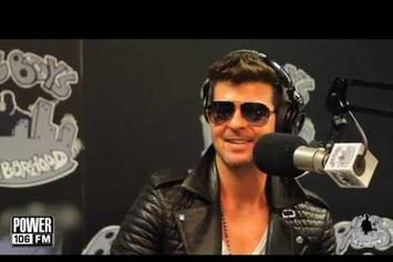 "Robin Thicke ""Talks EDM, Kendrick Lamar & A$AP Rocky"" Video"