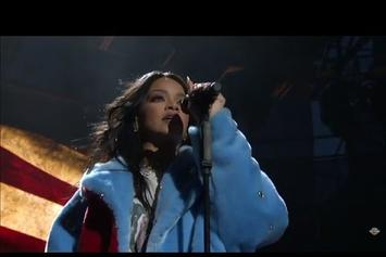 "Rihanna Performs New Song, ""American Oxygen"" At March Madness Festival"