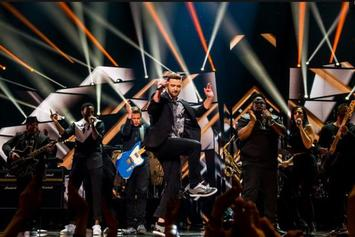 """Justin Timberlake Performs """"Can't Stop The Feeling"""" Live At Eurovision 2016"""