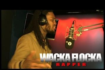 """Waka Flocka """"Fire In The Booth"""" Freestyle"""