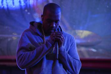 "Kanye West Screens ""Famous"" Video Across Buildings In NYC"