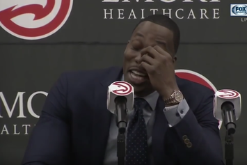 Watch Dwight Howard Tear Up During His First Atlanta Hawks Press Conference