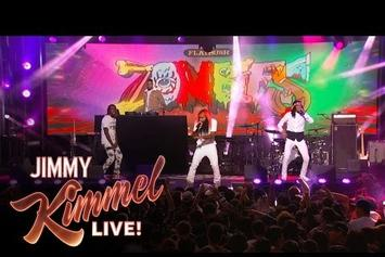 "Flatbush Zombies Perform ""Bounce"" & ""Trade-Off"" On Jimmy Kimmel"