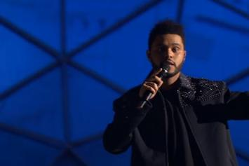 "The Weeknd Performs ""Starboy"" Live At 2016 MTV EMA's"