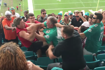 Watch Dolphins Fans And 49ers Fans Brawl In The Stands