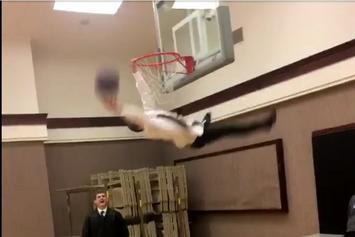 Watch This Kid Faceplant While Trying To Pull Off An Off-The-Table Dunk