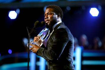 Kevin Hart Flips Off The Rock On Live TV At 2017 People's Choice Awards