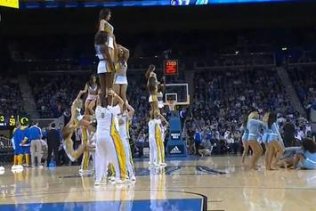 UCLA Cheerleader Takes Nasty Fall, Then Gets Dropped Again