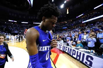 Watch Kentucky's De'Aaron Fox's Emotional Interview After Loss To UNC