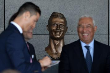 Twitter Reacts To Cristiano Ronaldo's Hideous Bronze Statue