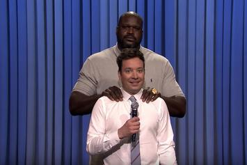 Watch Shaq Go Up Against Jimmy Fallon In Lip Sync Battle