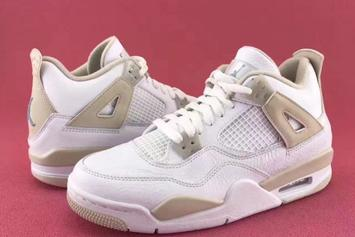 """""""Linen"""" Air Jordan 4s To Release Up To A Size 9.5"""