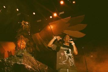 """Travis Scott Performs """"Butterfly Effect"""" & """"Green & Purple"""" Live For The First Time In St. Louis"""