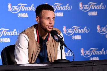 "Steph Curry Says He Didn't Pretend To Sh*t On The Cavs: ""No Randy Moss"""
